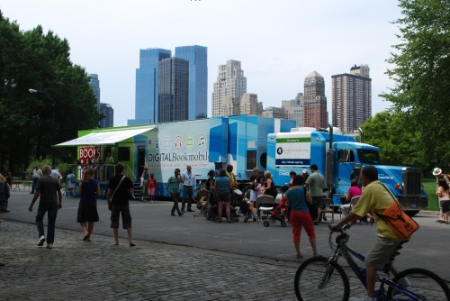 Digital Bookmobile - New York City Skyline