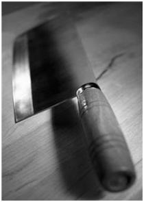 Picture of a meat cleaver