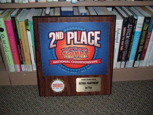 2nd place plaque