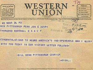 photo of a Western Union telegram