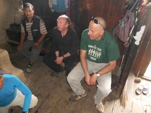 Two men in Nepali kitchen