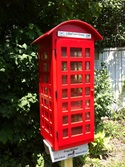 Example of the pre-built Little Red British Phone Booth Library