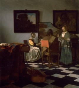 The Concert, about 1665, Johannes Vermeer, Dutch, 1632-1675. Photo courtesy of Isabella Stewart Gardener Museum, www.gardnermuseum.org