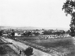 Gettysburg at the time of the Civil War.  [Image is in the public domain; click picture for full source information.]