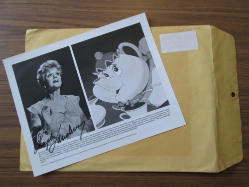 Angela Lansbury's autograph