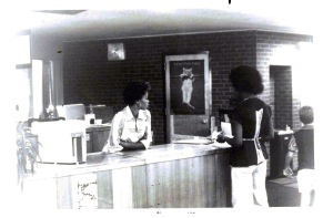 Caledonia Library Circulation Clerk, Ms. Debrah Smith, c1978