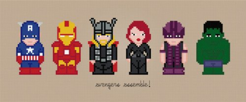 Avengers design by Ivan Petroff of Amazing Cross Stitch - click through for his Etsy site.