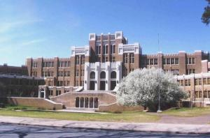 In 1957, nine black students began attending the formerly all-white Central High, causing a prominent conflict in the area. It's still a functioning high school. Photo courtesy the National Parks Service.