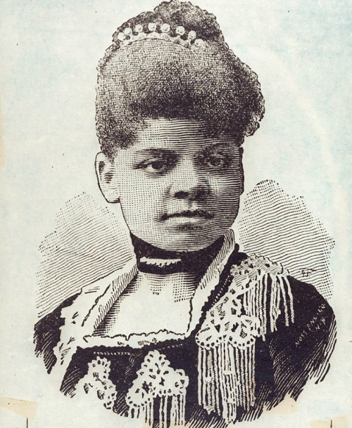 """Ida B. Wells, head-and-shoulders portrait, facing front."" Library of Congress, Prints & Photographs Division, Visual Materials from the NAACP Records [LC-DIG-ppmsca-23823]. All rights reserved. Click through for source page."
