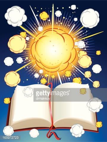 Exploding Book - Getty image
