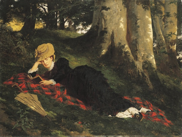 """Woman Reading in a Forest,"" by Gyula Benczúr. Via Wikimedia Commons/Google Art project - click through for source page/details."