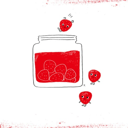 Strawberry Jam Print. Click through for the artist's portfolio.