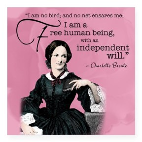 charlotte_bronte_square_sticker_3_x_3